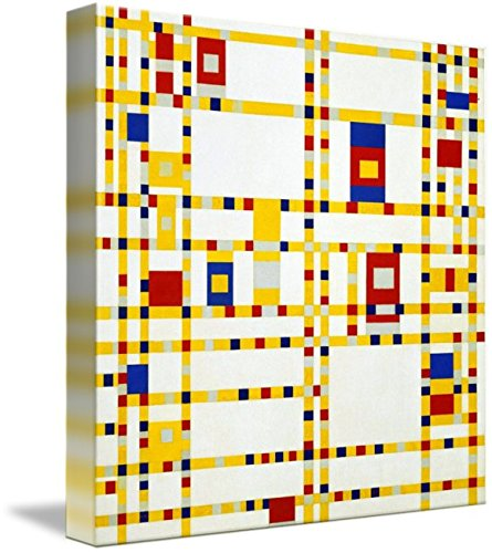 Wall Art Print entitled Piet-Mondrian, Broadway Boogie Woogie, 1942-1943 by Celestial Images | 8 x 8 (Piet Mondrian Boogie Broadway Woogie)