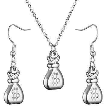 ZHAOSHUNAN Conjunto de joyas Bolsa De Acero Inoxidable ...