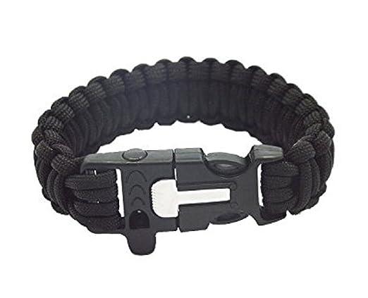 2 opinioni per Campeggio trekking Paracord sopravvivenza all'aperto bracciale braccialetto