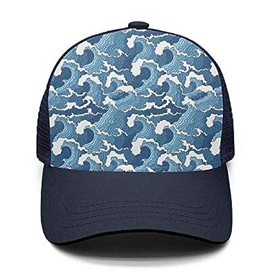 Classic Cap Abstract Wave Unisex Adjustable Mesh Visor Hats