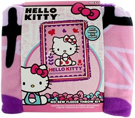 Hello Kitty Mariposas y flores no SEW KIT de tejido de forro polar ...