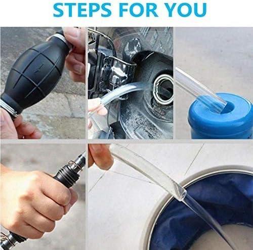 Poweka Handpumpe Wasser F/ür Benzin Benzin Diesel /Öl Fl/üssiges Wasser Aquarium Mit Siphon Schlauch