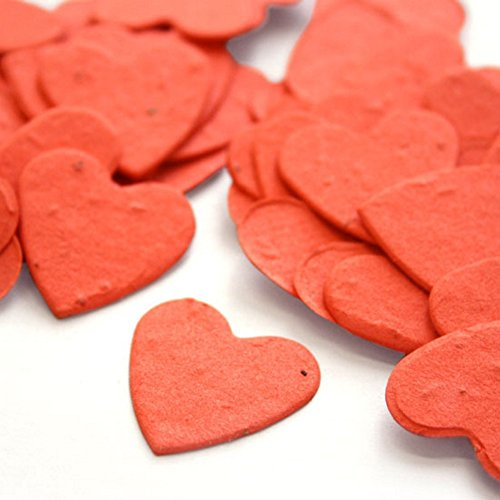 Heart Shaped Plantable Seed Confetti (Tangerine) - 350 pieces/bag