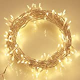 100 Leds 10M Outdoor Battery Fairy String Lights (Warm White) for Christmas Tree, Festive, Birthday, Party, We
