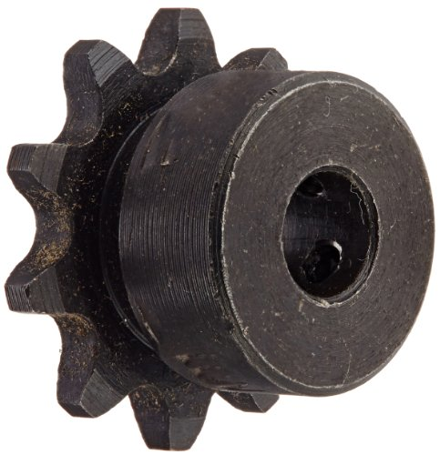 (Tsubaki 35B10FF Finished Bore Sprocket, Single Strand, Hardened Teeth, Inch, #35 ANSI No., 3/8