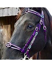Detachable Horse Bridle, Pu Protective Head Collar Training Match Horse Halter Control Direction Fashion Bridle Equestrian Supplies Horse Equipment Accessories