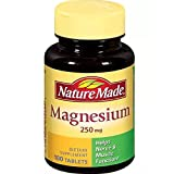 Nature Made Magnesium 250 mg Tablets 100 ea ( Pack of 3)