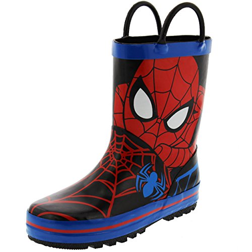 Disney 1SPS502 Spider-Man Rain Boot (Toddler/Little Kid), Red, 10 M US Toddler