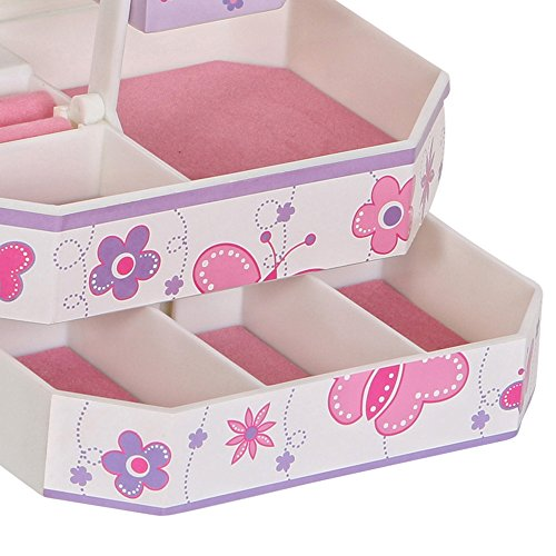 Mele & Co.. Kelsey Girl's Musical Ballerina Jewelry Box (Butterfly and Flower Design) by Mele & Co. (Image #6)