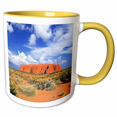 3dRose Danita Delimont - Australia - Mountain of Uluru, Ayers Rock, Australia - AU01 MGL0063 - Miva Stock - 15oz Two-Tone Yellow Mug (mug_133402_13)
