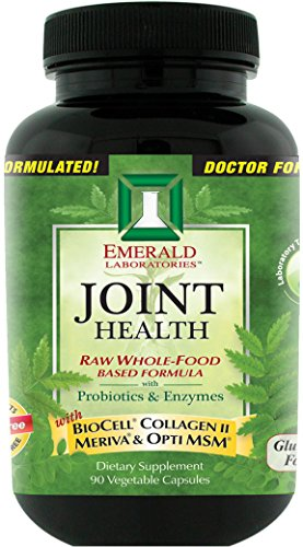 Emerald Laboratories - Joint Health - with BioCell® Collagen II, Meriva® & Opti MSM® - 90 Vegetable Capsules (Raw Freeze Dried Turmeric compare prices)
