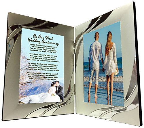 Best Gift for First Year Anniversary Gifts, Happy 1st Anniversary Present - Valentine's Day, Christmas, Birthdays - Just Add A Photo by Words Matter Gifts