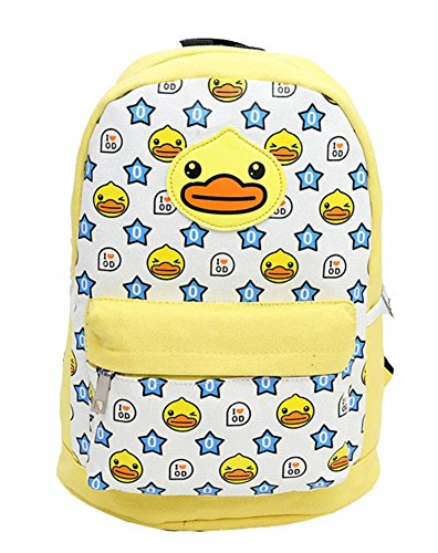 Price comparison product image Backpack Hot Sale Unisex School Bag Kid Student Shoulders Bag Canvas Rubber Duck (yellow)