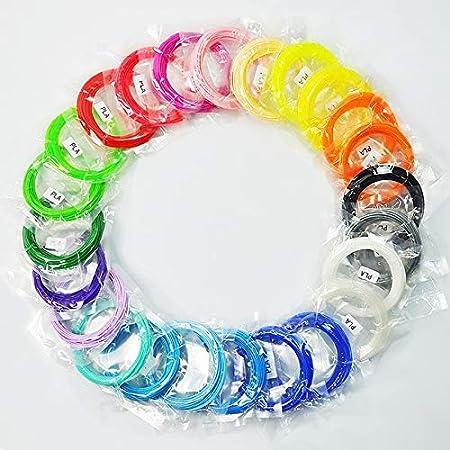 FAN-MING-N-3D, filamento de Impresora 3D de 20 Colores, 100 ...