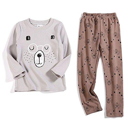 6cc016002 Barato Deylaying 2Pcs Pijama Ropa de dormir Niños Manga larga Algodón Ropa  de noche PJs Gift