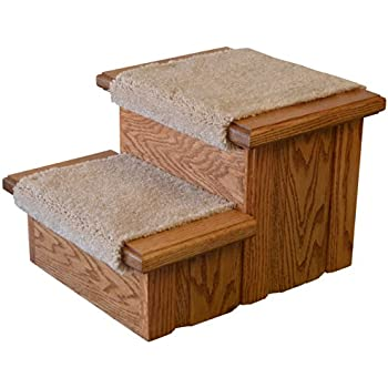 Amazon Com Unfinished Solid Oak Step Stool With Solid