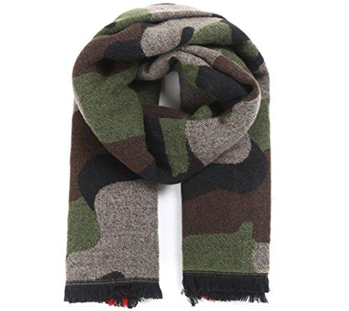 YUNEE Cashmere Camouflage Jacquard Cashmere Scarf Shawl Wrap