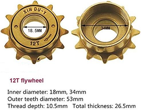34MM 12T 12 Tooth Single Speed Freewheel Bike Sprocket Gear Accessory Nice  e