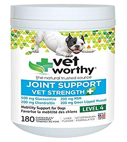 Vet Worthy Joint Support Liver Flavored Chewables for Dogs