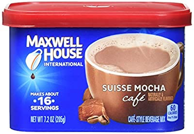 Maxwell House International Coffee Suisse Mocha Cafe, 7.2-Ounce Cans (Pack of 4) by Maxwell House