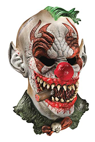 Foam Latex Mask, Deluxe Fonzo The Clown-Adult
