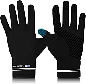 Cycling Fishing Gloves,UV Protection Full Finger Touch Screen Cooling Gloves UPF50+ Sun Gloves,Non-Slip Gym Gloves for Kayaking,Hiking,Paddling,Fitness,Climbing,Workout,Driving,Golf(Men & Women)