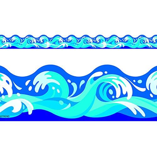 TREND enterprises, Inc. Water Waves Terrific Trimmers, 39 - Big Border Waves Ocean