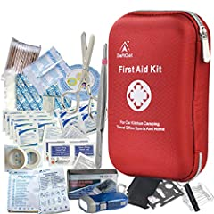 DEFTGET FIRST AID KIT: FULLY EQUIPPED FIRST AID KIT FOR THE BEST CONVENIENCE! Do you spend a lot of time working outdoors or in an environment where injuries are common, and often find you don't have the full range of first aid equipment to d...