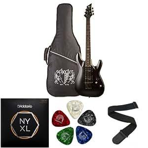 c 1 sgr by schecter beginner electric guitar accessories bundle midnight satin. Black Bedroom Furniture Sets. Home Design Ideas