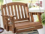 Cheap Outdoor Wood Single Person Porch Swing Patio Garden Furniture