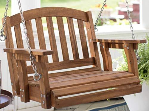 Cheap Outdoor Wood Single Person Porch Swing Patio Garden Furniture