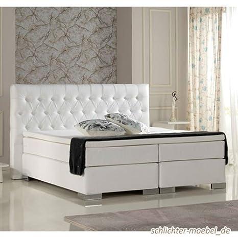 140x200, Weiß Schlichter Möbel Living Plus Boxspringbett Hotelbett Amerikanisches Bett Designbett Betten, Bettrahmen & Lattenroste