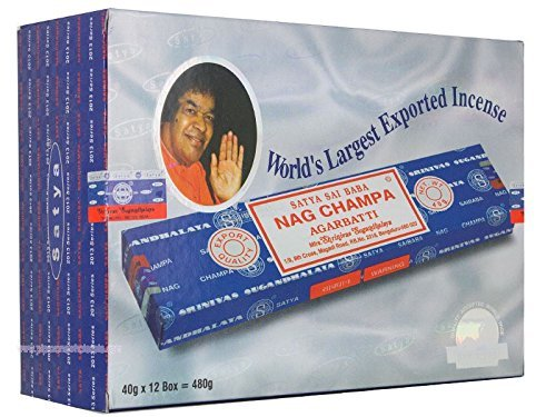 【超特価sale開催】 Satya Sticks Nag Champa Incense Sticks 480 g 40 gms (特別な12パックTotal = 480 g B076QBQM2Z, 激安直営店:b92fa682 --- aemmontagens.com.br