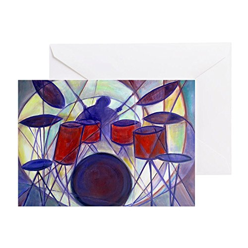 CafePress - Drummer - - Greeting Card, Note Card, Birthday Card, Blank Inside Matte Christmas Musical Notes Clip Art