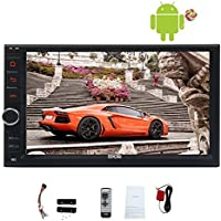 EinCar Android 5.1 System Quad Core Car NO DVD Player Auto Radio Video 1080P Multimedia Player 7 Double din GPS Navigation Car Deck Head Unit support Screen Mirroring Function Wifi Wireless Remote