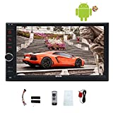 EinCar Android 5.1 System Quad Core Car NO DVD Player Auto Radio Video 1080P Multimedia Player 7'' Double din GPS Navigation Car Deck Head Unit support Screen Mirroring Function Wifi Wireless Remote
