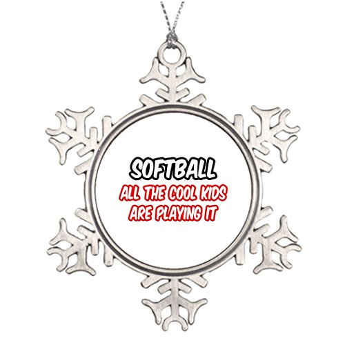 Kappies nip Ideas For Decorating Christmas Trees Softball...All The Cool Kids Are Playing It Snowflake Ornaments Christmas