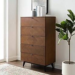 Bedroom Modway Kali Mid-Century Modern Wood Chest in Walnut