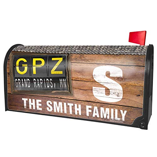 NEONBLOND Custom Mailbox Cover GPZ Airport Code for Grand Rapids, MN -