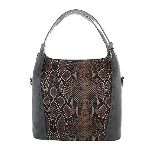 Porter Multi L'épaule Ital design Grau Sac Femme À Pour q8Xrq