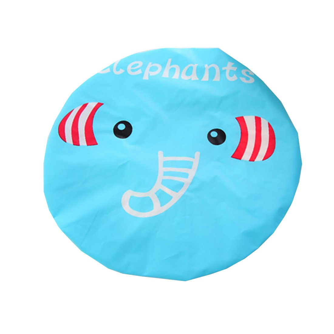 Ctgvh cute Shower Caps, plastica elastica Animal modello impermeabile bagno makeup Care Cap per donne ragazze (Elephant pattern)