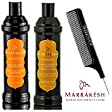 Marrakesh NOURISH Daily Cleansing Shampoo & HYDRATE Daily Conditioner (DREAMSICLE SCENT) Duo Kit, ARGAN & HEMP OIL THERAPY (with Sleek Steel Pin Tail Comb) (DREAMSICLE - 12 oz / 355 ml KIT)