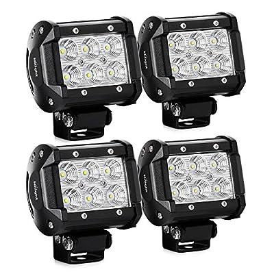 Nilight LED Light Bar LED Bar 1260lm Flood Led Off Road Driving Lights Led Fog Lights Jeep Lighting LED Work Light for Van Camper SUV ATV ,2 Years Warranty