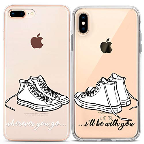 Lex Altern Crystal iPhone Case Xs Max Xr X 10 8 7 6s Plus 6 SE 5s 5 Sneakers Matching White Wherever You Go I Will Be With Gift Cover Cute Protective TPU Converse Anniversary Phone Teen Best Friend