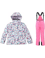Little Kid's Snow Suit, One Piece Winter Outdoor Warm Waterproof Waterproof Split Snowsuit