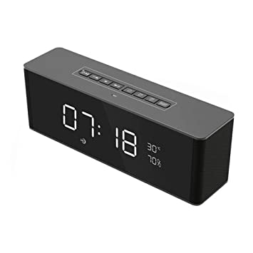SIMPLE-Y Espejo Despertador inalámbrico Bluetooth Altavoz Radio Altavoz multifunción LED Reloj Digital Bluetooth Altavoz: Amazon.es: Electrónica