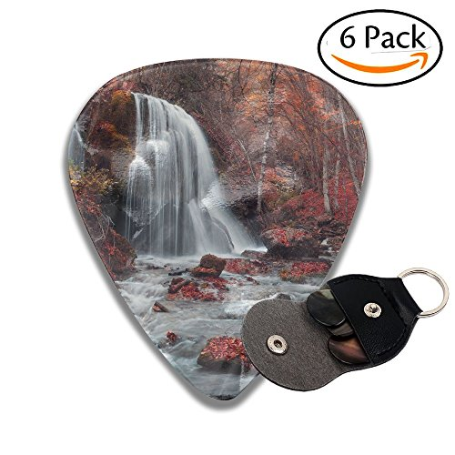 Stone Logan (Wxf Beautiful Waterfall With Trees Red Leaves Rocks And Stones In Autumn Forest Silver Stream Stylish Celluloid Guitar Picks Plectrums For Guitar Bass .46mm 6 Pack)