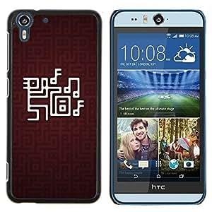 - NOTE ART LABYRINTH GAME COMPUTER MUSIC - Caja del tel¨¦fono delgado Guardia Armor- For HTC Desire EYE M910x Devil Case