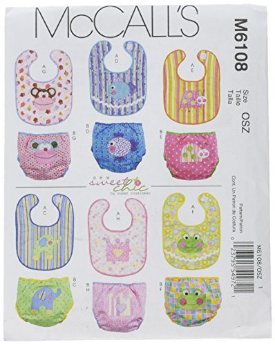 McCall's Patterns M6108 Infants' Bibs and Diaper Covers