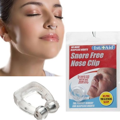 anti stop snoring nose clip snore free magnetic silicone night sleeping aid new